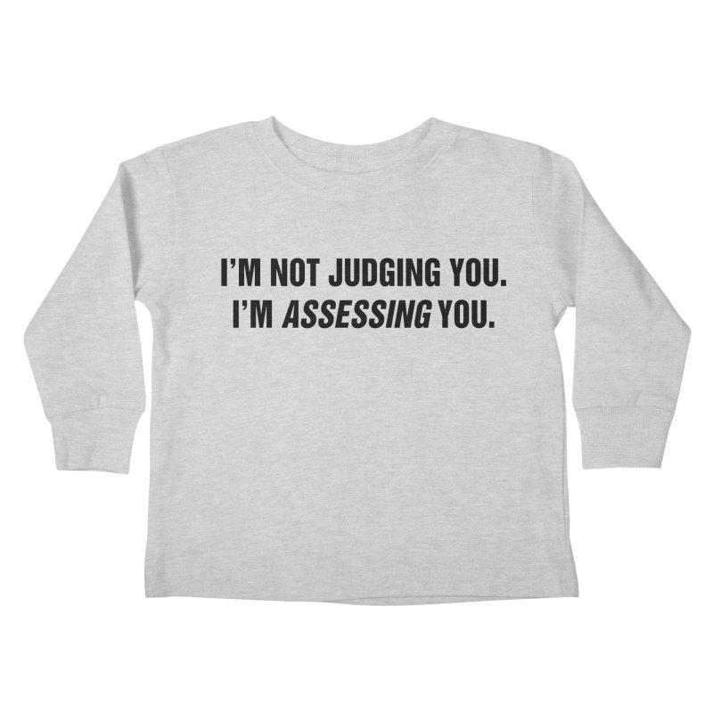 "SIDE EYE/""Judging"" (Black) Kids Toddler Longsleeve T-Shirt by Josh Sabarra's Shop"