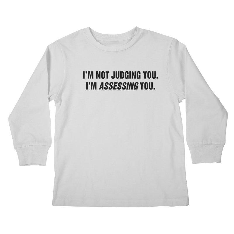 "SIDE EYE/""Judging"" (Black) Kids Longsleeve T-Shirt by Josh Sabarra's Shop"