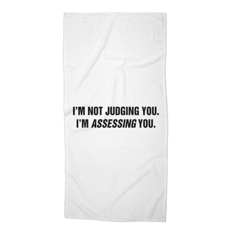 "SIDE EYE/""Judging"" (Black) Accessories Beach Towel by Josh Sabarra's Shop"