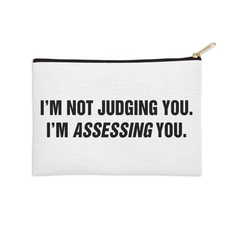 "SIDE EYE/""Judging"" (Black) Accessories Zip Pouch by Josh Sabarra's Shop"
