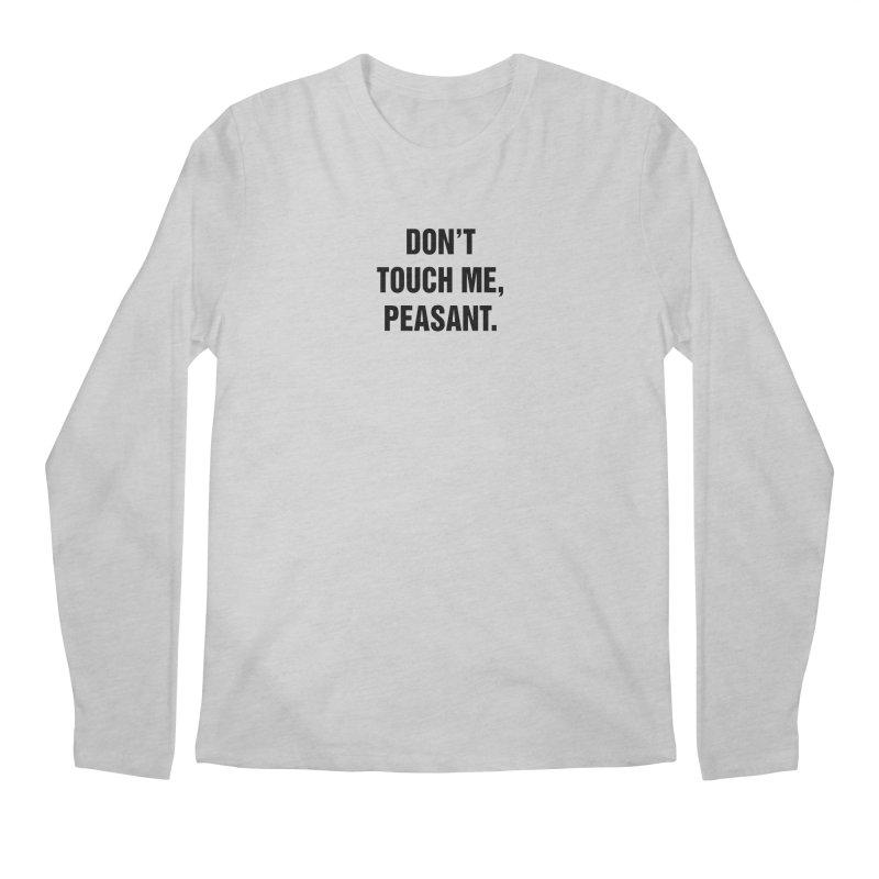 "SIDE EYE/""Peasant"" (Black) Men's Regular Longsleeve T-Shirt by Josh Sabarra's Shop"