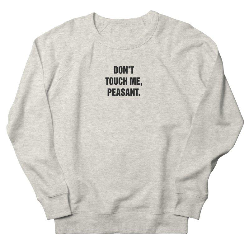"SIDE EYE/""Peasant"" (Black) Women's French Terry Sweatshirt by Josh Sabarra's Shop"