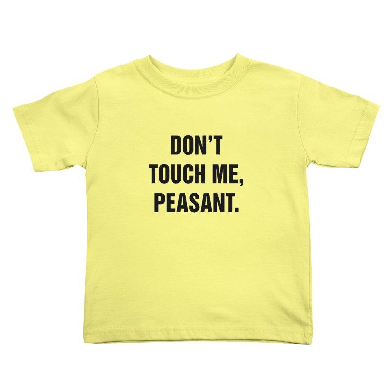 "SIDE EYE/""Peasant"" (Black) Kids Toddler T-Shirt by Josh Sabarra's Shop"