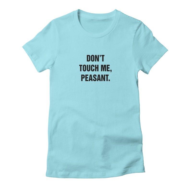 "SIDE EYE/""Peasant"" (Black) Women's Fitted T-Shirt by Josh Sabarra's Shop"