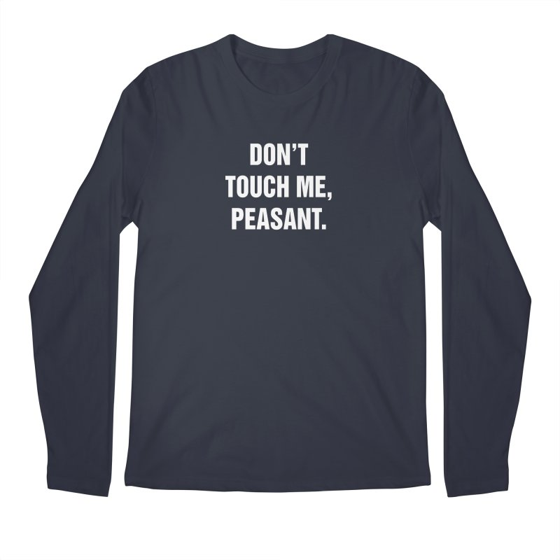 "SIDE EYE/""Peasant"" (White) Men's Regular Longsleeve T-Shirt by Josh Sabarra's Shop"