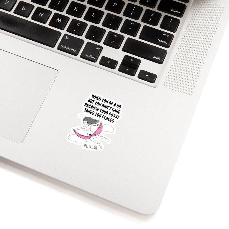 "SIDE EYE/""Going Places"" (Black) Accessories Sticker by Josh Sabarra's Shop"