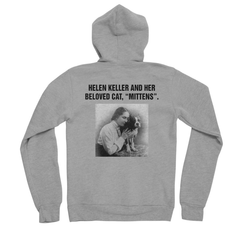 "SIDE EYE/""Helen Keller's Cat"" (Black) Women's Sponge Fleece Zip-Up Hoody by Josh Sabarra's Shop"