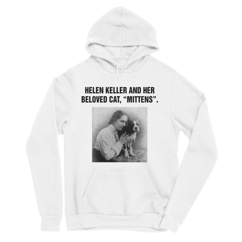 """SIDE EYE/""""Helen Keller's Cat"""" (Black) Women's Sponge Fleece Pullover Hoody by Josh Sabarra's Shop"""