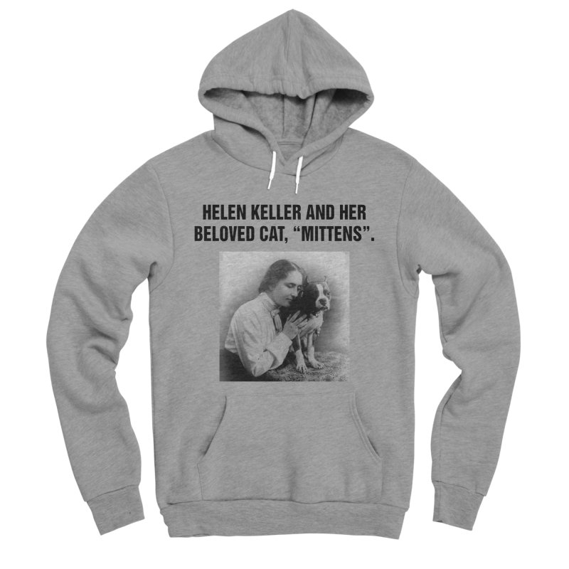 "SIDE EYE/""Helen Keller's Cat"" (Black) Men's Sponge Fleece Pullover Hoody by Josh Sabarra's Shop"