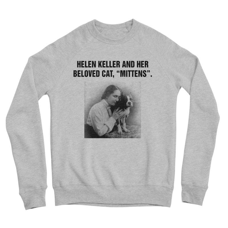 """SIDE EYE/""""Helen Keller's Cat"""" (Black) Women's Sponge Fleece Sweatshirt by Josh Sabarra's Shop"""