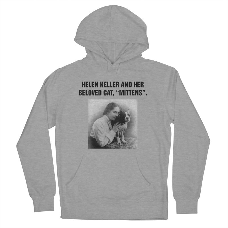 "SIDE EYE/""Helen Keller's Cat"" (Black) Women's French Terry Pullover Hoody by Josh Sabarra's Shop"
