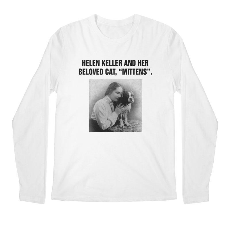 "SIDE EYE/""Helen Keller's Cat"" (Black) Men's Regular Longsleeve T-Shirt by Josh Sabarra's Shop"