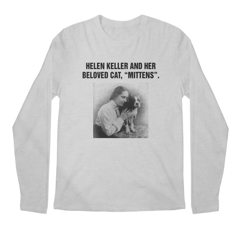 "SIDE EYE/""Helen Keller's Cat"" (Black) Men's Regular Longsleeve T-Shirt by Josh Sabarra's Shop"