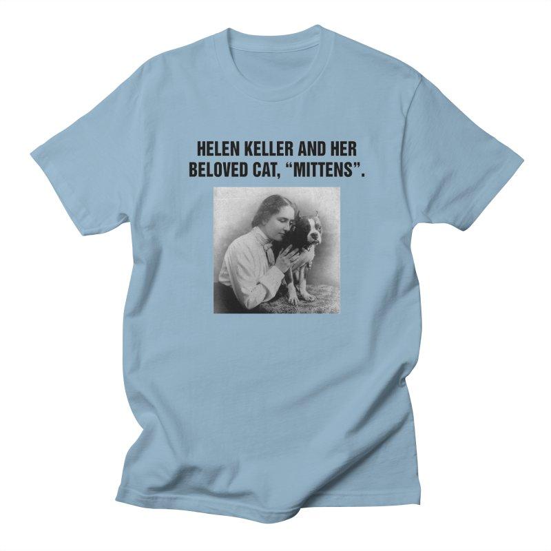 "SIDE EYE/""Helen Keller's Cat"" (Black) Women's Regular Unisex T-Shirt by Josh Sabarra's Shop"