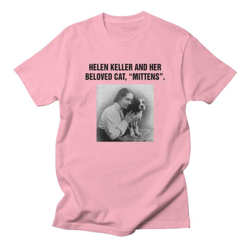 "SIDE EYE/""Helen Keller's Cat"" (Black) Men's Regular T-Shirt by Josh Sabarra's Shop"