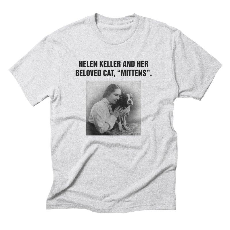 "SIDE EYE/""Helen Keller's Cat"" (Black) Men's Triblend T-Shirt by Josh Sabarra's Shop"