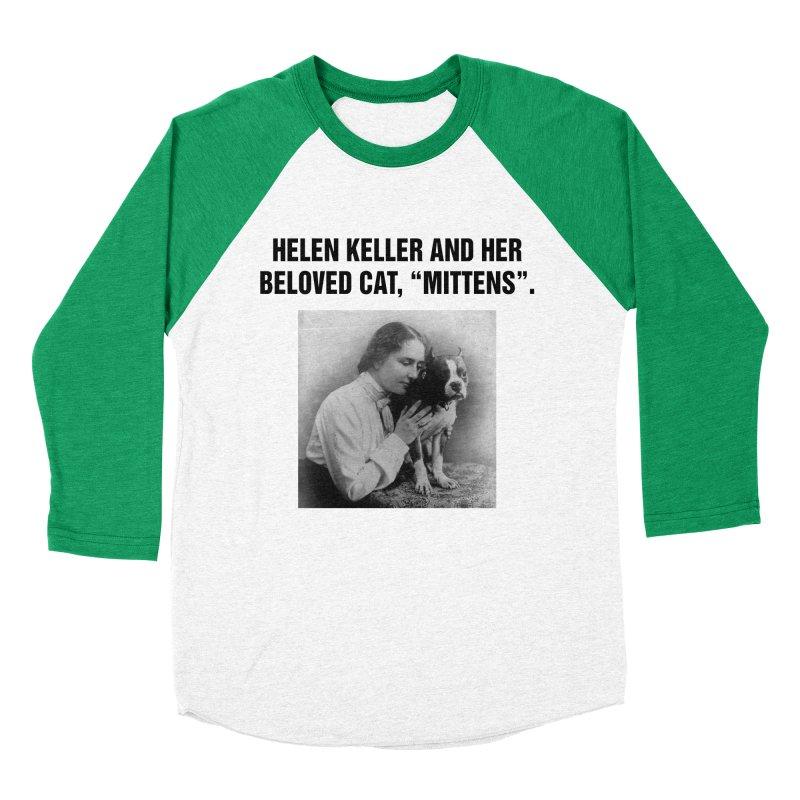 "SIDE EYE/""Helen Keller's Cat"" (Black) Men's Baseball Triblend Longsleeve T-Shirt by Josh Sabarra's Shop"