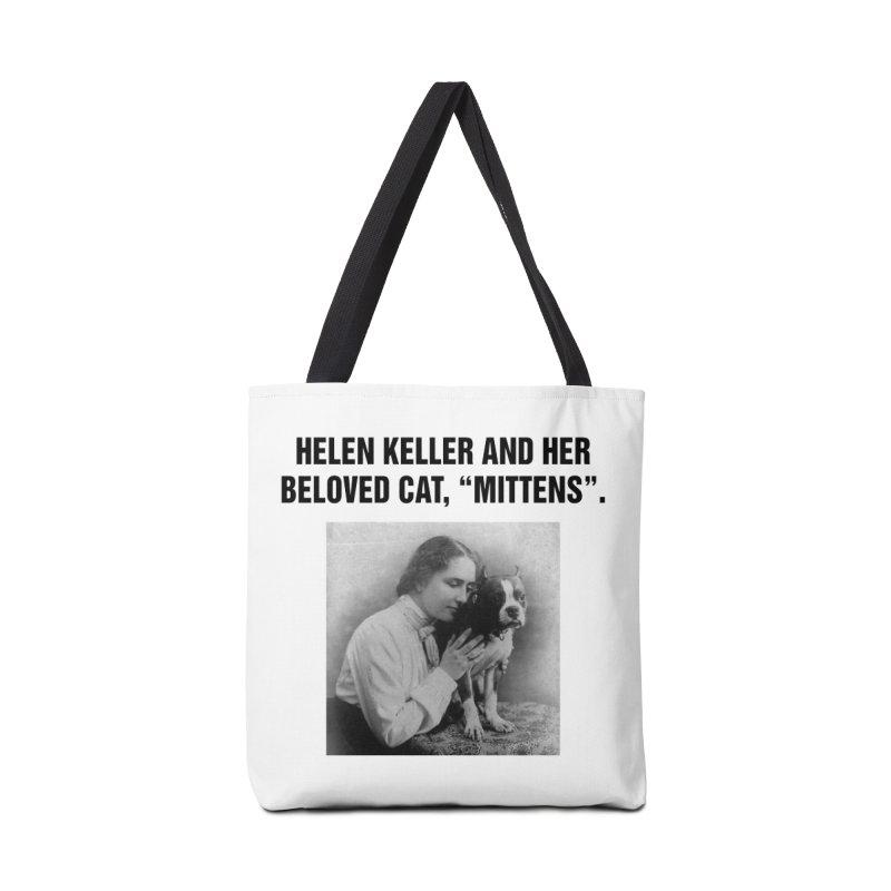 """SIDE EYE/""""Helen Keller's Cat"""" (Black) Accessories Bag by Josh Sabarra's Shop"""