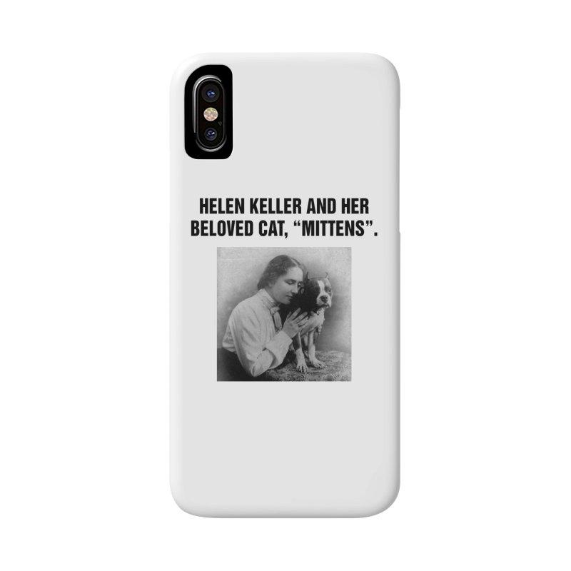 """SIDE EYE/""""Helen Keller's Cat"""" (Black) Accessories Phone Case by Josh Sabarra's Shop"""