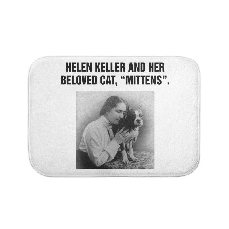 "SIDE EYE/""Helen Keller's Cat"" (Black) Home Bath Mat by Josh Sabarra's Shop"