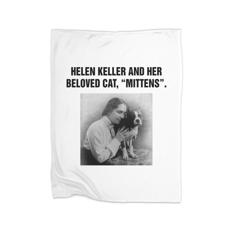 "SIDE EYE/""Helen Keller's Cat"" (Black) Home Blanket by Josh Sabarra's Shop"