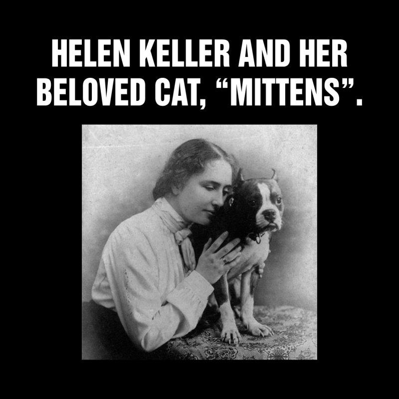 """SIDE EYE/""""Helen Keller's Cat"""" (White) by Josh Sabarra's Shop"""
