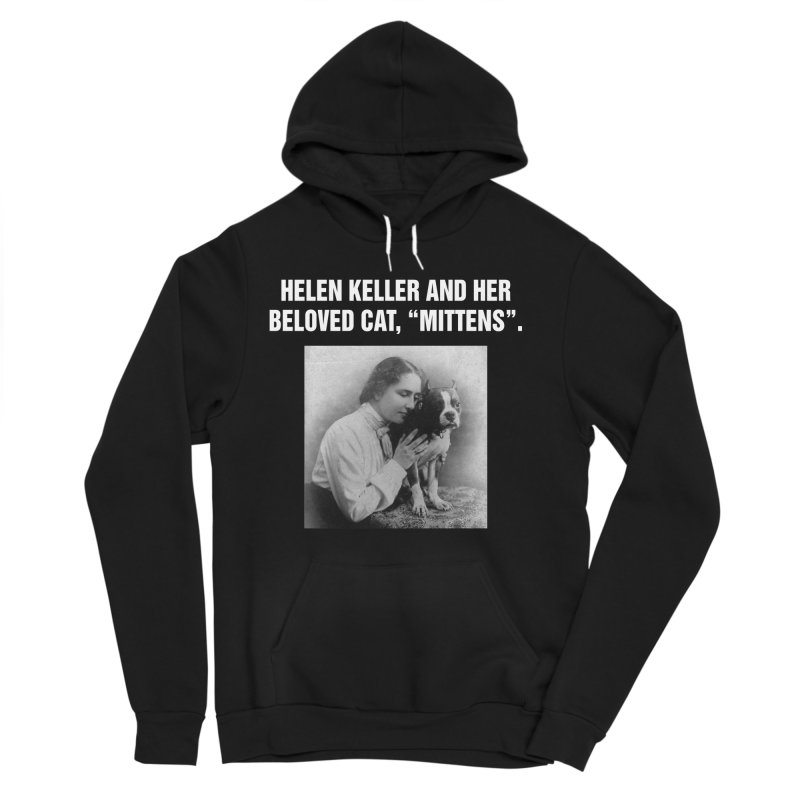 "SIDE EYE/""Helen Keller's Cat"" (White) Men's Sponge Fleece Pullover Hoody by Josh Sabarra's Shop"