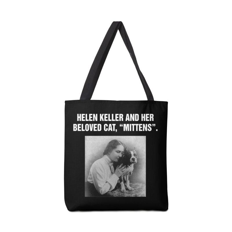 "SIDE EYE/""Helen Keller's Cat"" (White) Accessories Bag by Josh Sabarra's Shop"