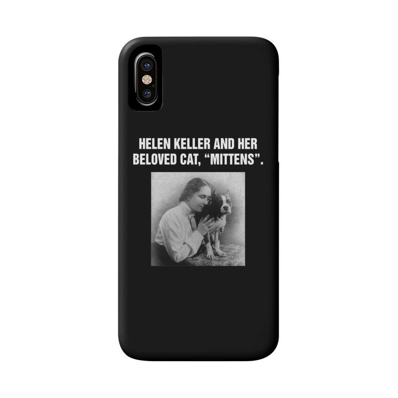 "SIDE EYE/""Helen Keller's Cat"" (White) Accessories Phone Case by Josh Sabarra's Shop"