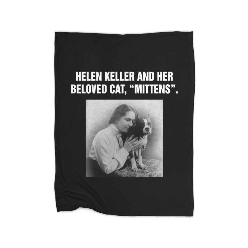 "SIDE EYE/""Helen Keller's Cat"" (White) Home Blanket by Josh Sabarra's Shop"