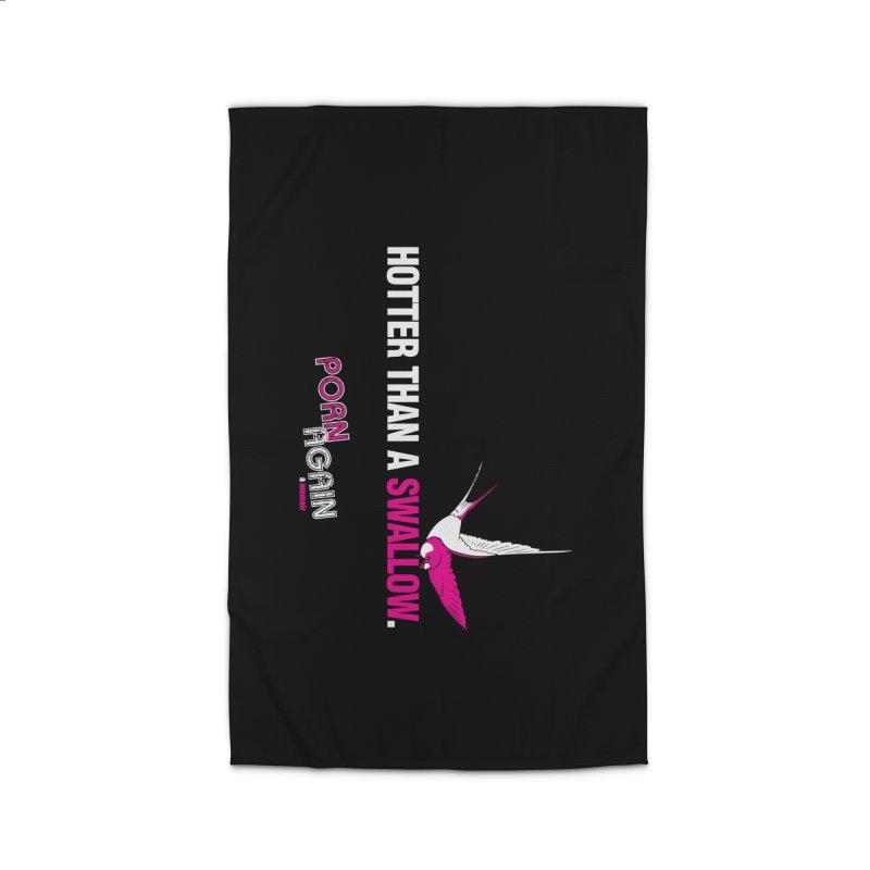 "PORN AGAIN/""Swallow"" (White/Pink) Home Rug by Josh Sabarra's Shop"