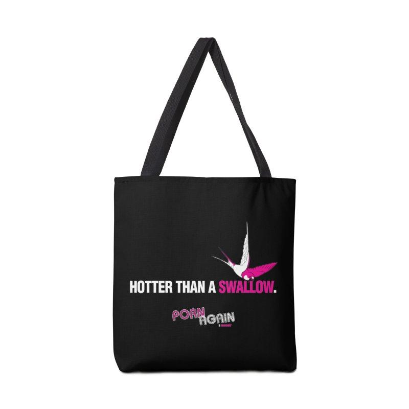"PORN AGAIN/""Swallow"" (White/Pink) Accessories Bag by Josh Sabarra's Shop"