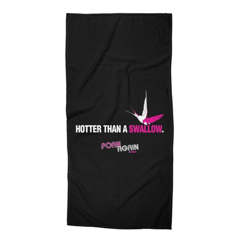 """PORN AGAIN/""""Swallow"""" (White/Pink) Accessories Beach Towel by Josh Sabarra's Shop"""