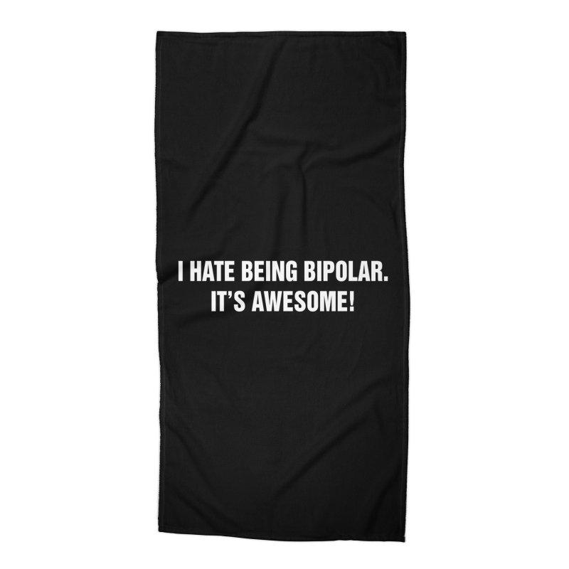 "SIDE EYE/""Bipolar"" (White) Accessories Beach Towel by Josh Sabarra's Shop"