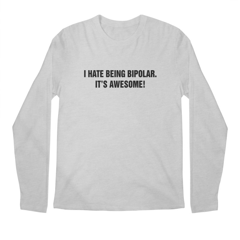 "SIDE EYE/""Bipolar"" (Black) Men's Regular Longsleeve T-Shirt by Josh Sabarra's Shop"