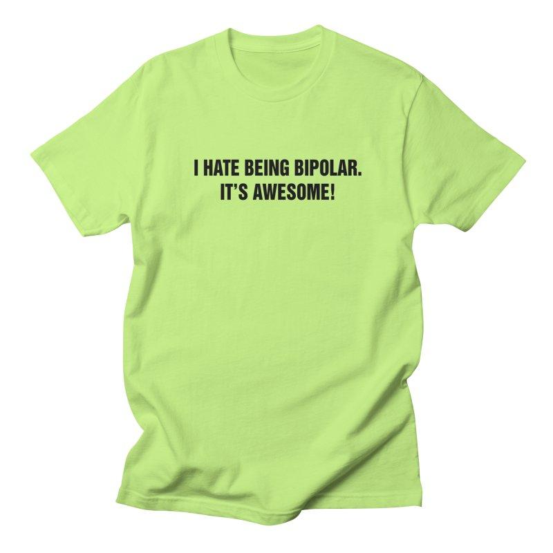 "SIDE EYE/""Bipolar"" (Black) Men's Regular T-Shirt by Josh Sabarra's Shop"