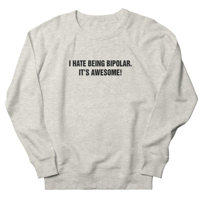 "SIDE EYE/""Bipolar"" (Black) Women's French Terry Sweatshirt by Josh Sabarra's Shop"