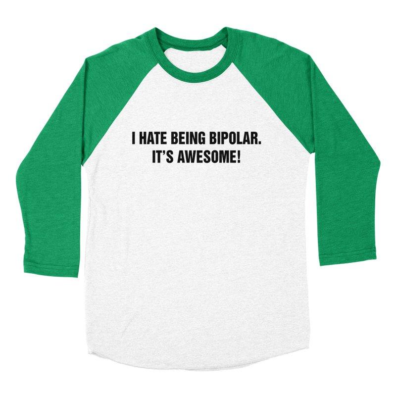 "SIDE EYE/""Bipolar"" (Black) Men's Baseball Triblend Longsleeve T-Shirt by Josh Sabarra's Shop"