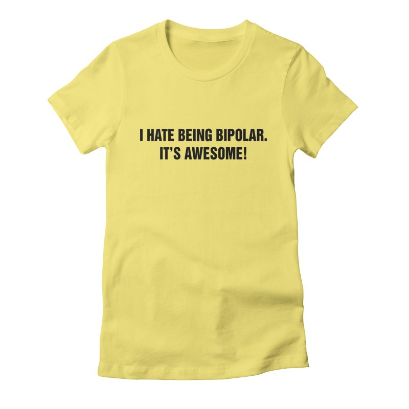 "SIDE EYE/""Bipolar"" (Black) Women's Fitted T-Shirt by Josh Sabarra's Shop"