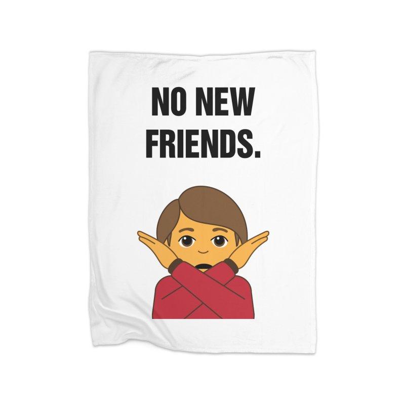 "SIDE EYE/""No New Friends"" (Black) Home Blanket by Josh Sabarra's Shop"
