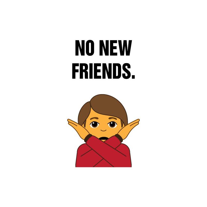 "SIDE EYE/""No New Friends"" (Black) by Josh Sabarra's Shop"