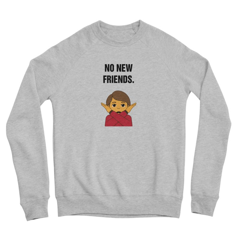 "SIDE EYE/""No New Friends"" (Black) Men's Sponge Fleece Sweatshirt by Josh Sabarra's Shop"