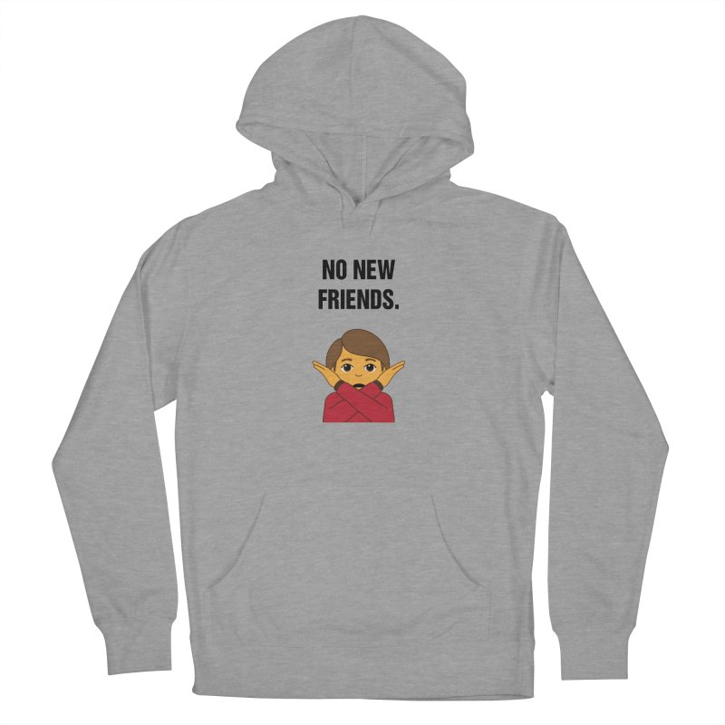 "SIDE EYE/""No New Friends"" (Black) Women's French Terry Pullover Hoody by Josh Sabarra's Shop"