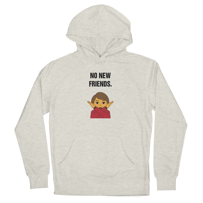 """SIDE EYE/""""No New Friends"""" (Black) Men's French Terry Pullover Hoody by Josh Sabarra's Shop"""
