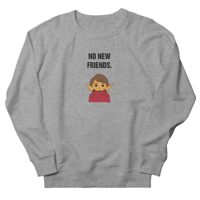"SIDE EYE/""No New Friends"" (Black) Women's French Terry Sweatshirt by Josh Sabarra's Shop"