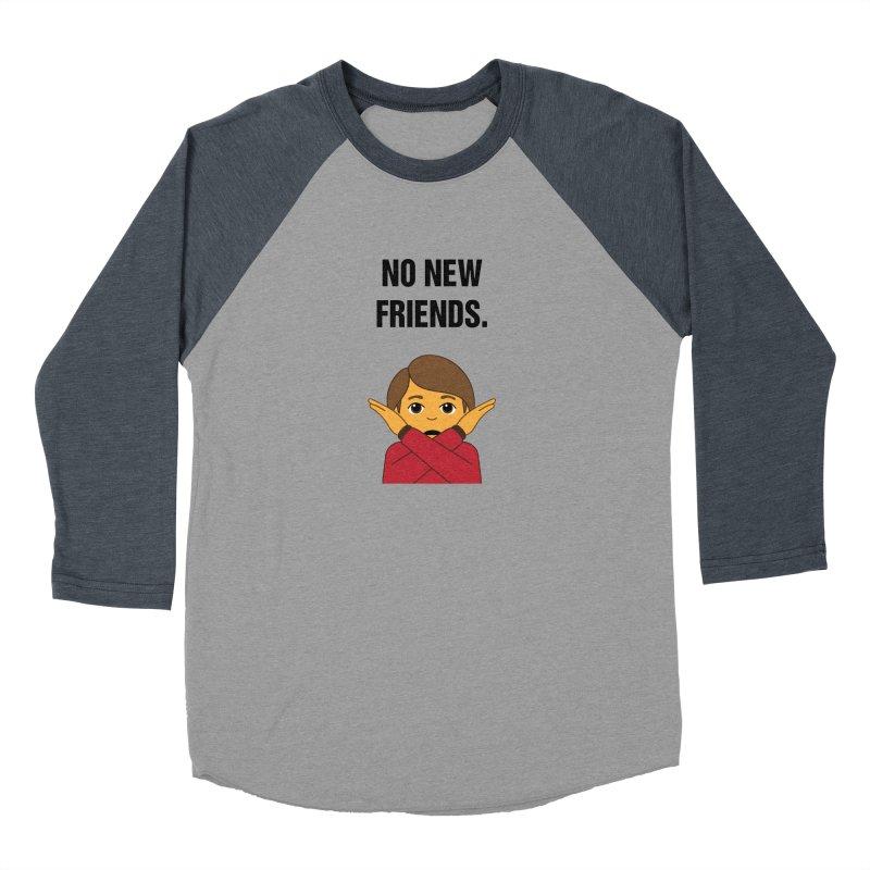 "SIDE EYE/""No New Friends"" (Black) Women's Baseball Triblend Longsleeve T-Shirt by Josh Sabarra's Shop"