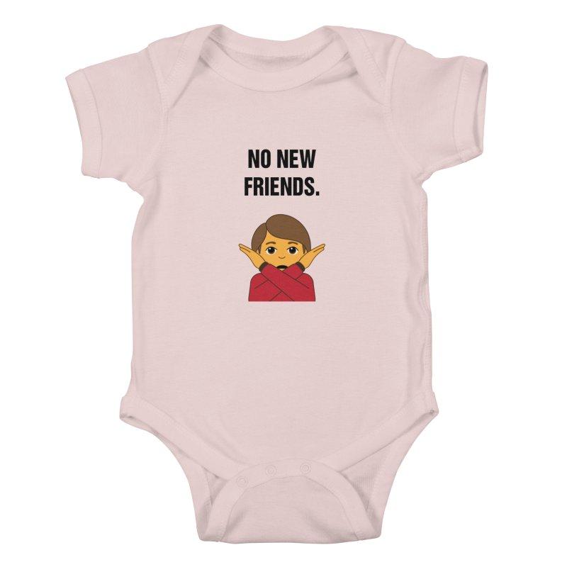 "SIDE EYE/""No New Friends"" (Black) Kids Baby Bodysuit by Josh Sabarra's Shop"