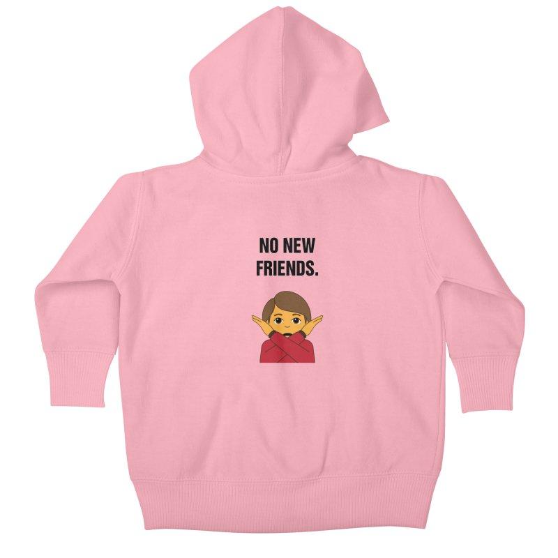 "SIDE EYE/""No New Friends"" (Black) Kids Baby Zip-Up Hoody by Josh Sabarra's Shop"