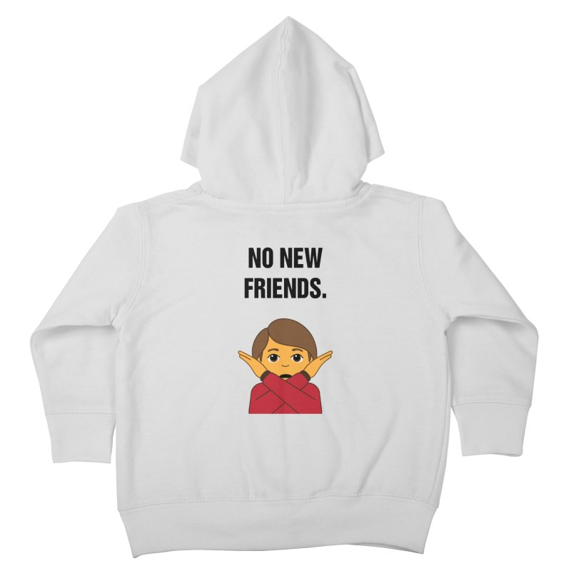 "SIDE EYE/""No New Friends"" (Black) Kids Toddler Zip-Up Hoody by Josh Sabarra's Shop"