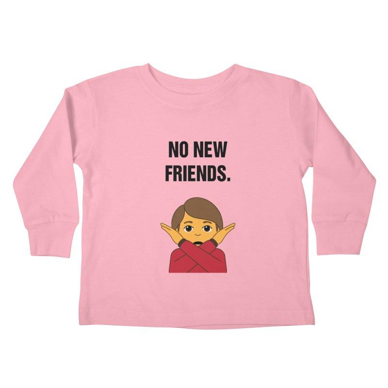 "SIDE EYE/""No New Friends"" (Black) Kids Toddler Longsleeve T-Shirt by Josh Sabarra's Shop"